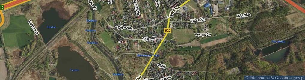 Zdjęcie satelitarne Kruszyny Kazimierza ul.