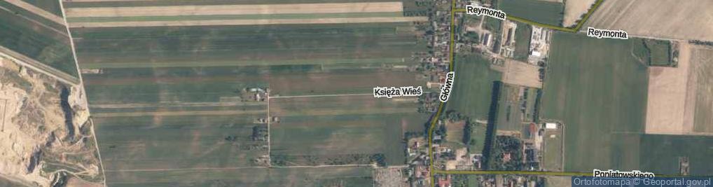 Zdjęcie satelitarne Księża Wieś ul.