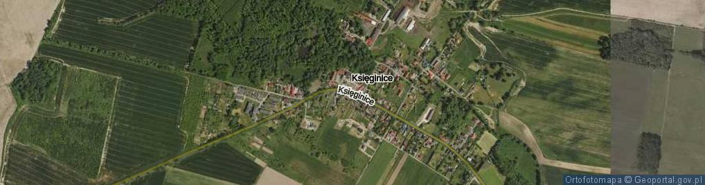 Zdjęcie satelitarne Księginice ul.