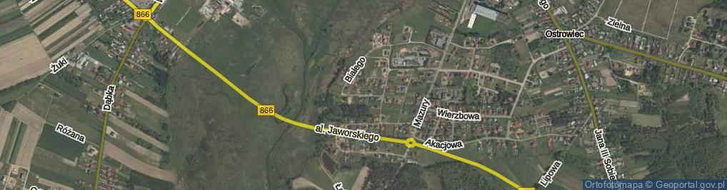 Zdjęcie satelitarne Księcia Opolczyka Władysława ul.