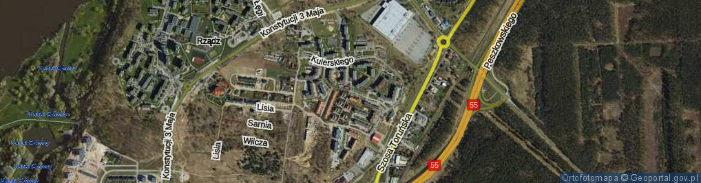 Zdjęcie satelitarne Kulerskiego Wiktora ul.