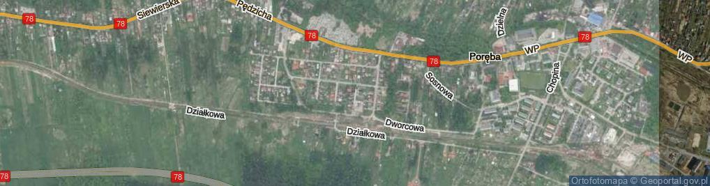 Zdjęcie satelitarne Kuźnicza ul.