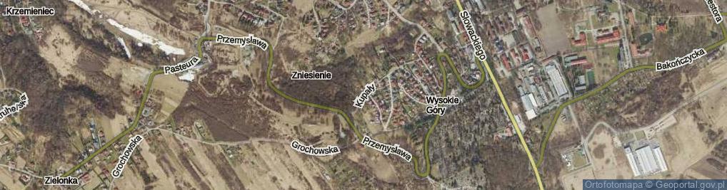 Zdjęcie satelitarne Kupały ul.