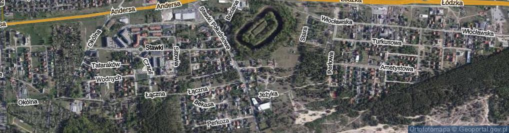 Zdjęcie satelitarne Kukułki ul.