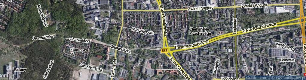 Zdjęcie satelitarne Kurpiowska ul.
