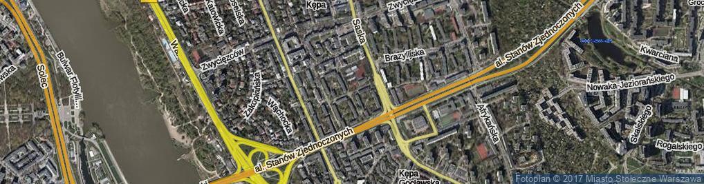 Zdjęcie satelitarne Kubańska ul.
