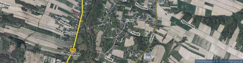 Zdjęcie satelitarne Kuwik ul.
