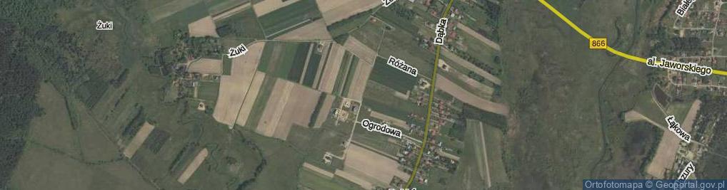 Zdjęcie satelitarne Kwiatów Polnych ul.