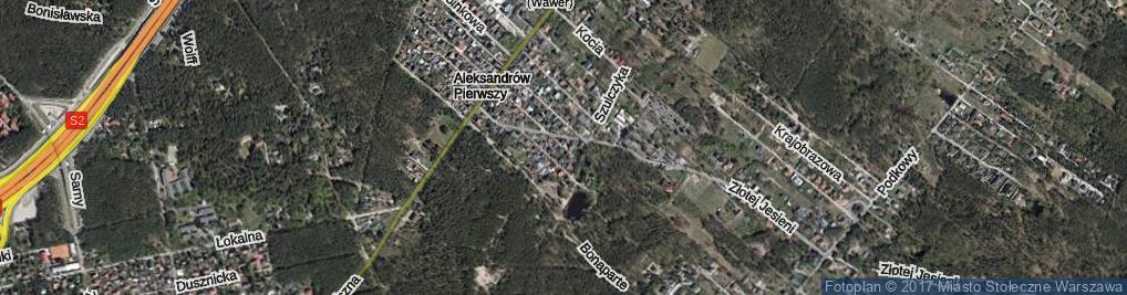 Zdjęcie satelitarne Kwitnącej Wiśni ul.