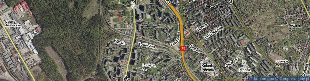 Zdjęcie satelitarne Ławczana ul.