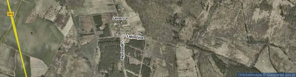 Zdjęcie satelitarne Łąkoszyce ul.