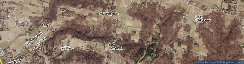 Zdjęcie satelitarne Łany ul.