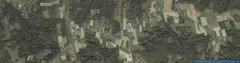 Zdjęcie satelitarne Lasek ul.