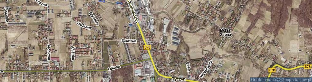 Zdjęcie satelitarne Laurowa ul.