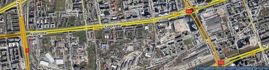 Zdjęcie satelitarne Laskowa ul.