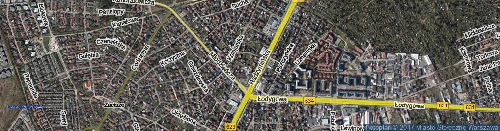 Zdjęcie satelitarne Łasińska ul.
