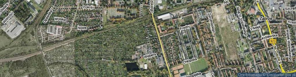 Zdjęcie satelitarne Łangowskiego Jana ul.