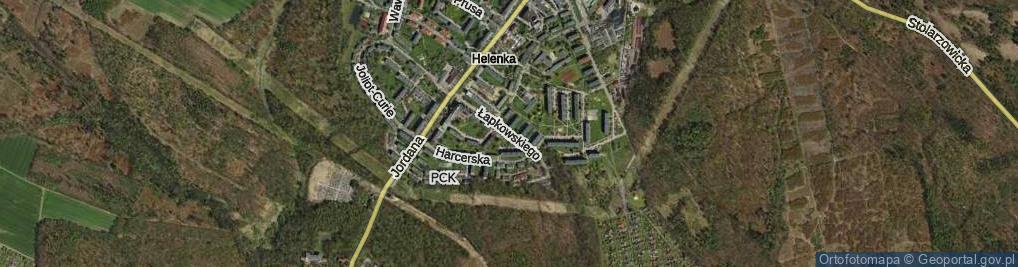 Zdjęcie satelitarne Łapkowskiego Józefa ul.
