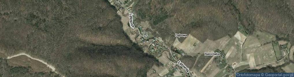 Zdjęcie satelitarne Łętownia ul.