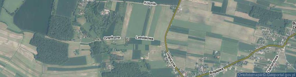 Zdjęcie satelitarne Letniskowa ul.