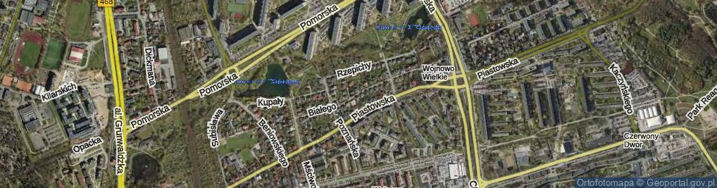Zdjęcie satelitarne Leszka Białego ul.