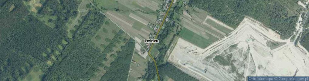 Zdjęcie satelitarne Leśnica ul.