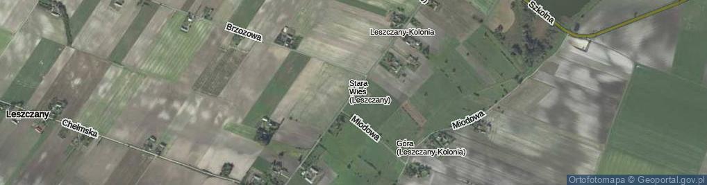 Zdjęcie satelitarne Leszczany-Kolonia ul.