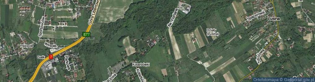 Zdjęcie satelitarne Leśny Stok ul.