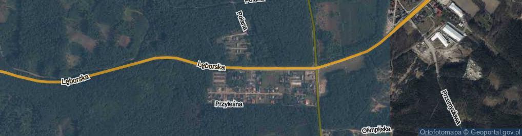 Zdjęcie satelitarne Lęborska ul.