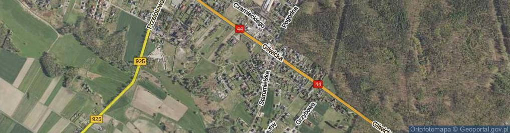 Zdjęcie satelitarne Łęgowa ul.