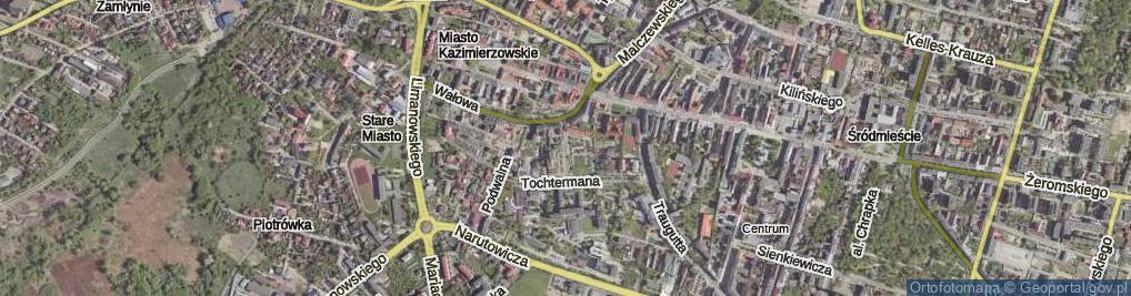 Zdjęcie satelitarne Lekarska ul.