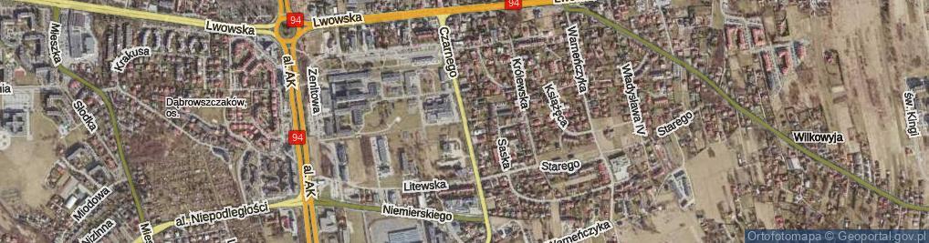 Zdjęcie satelitarne Leszka Czarnego ul.