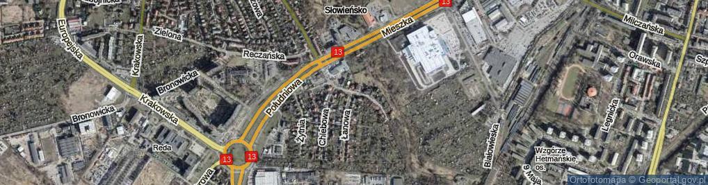 Zdjęcie satelitarne Lednicka ul.