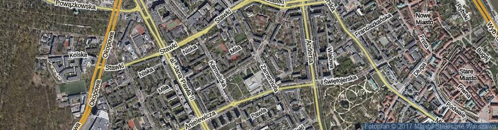 Zdjęcie satelitarne Lewartowskiego Józefa ul.