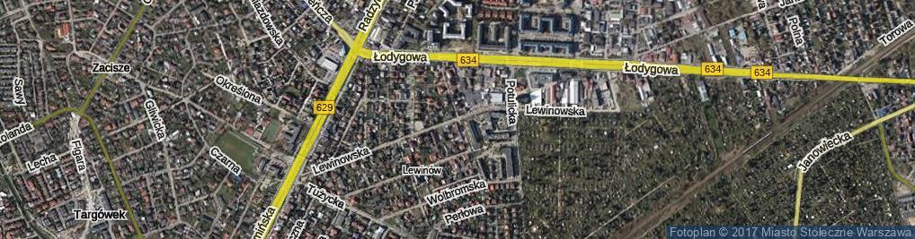 Zdjęcie satelitarne Lewinowska ul.