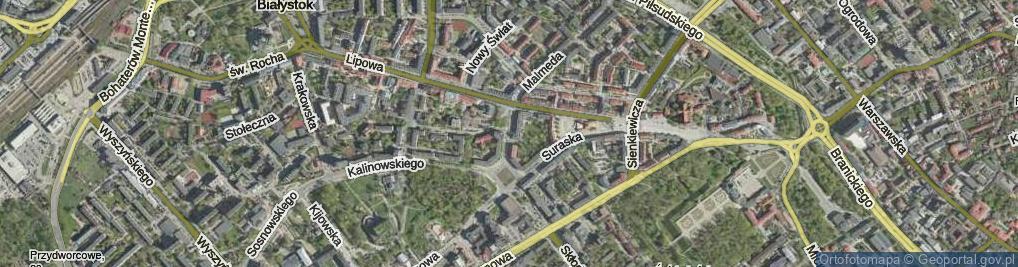 Zdjęcie satelitarne Liniarskiego Władysława ul.