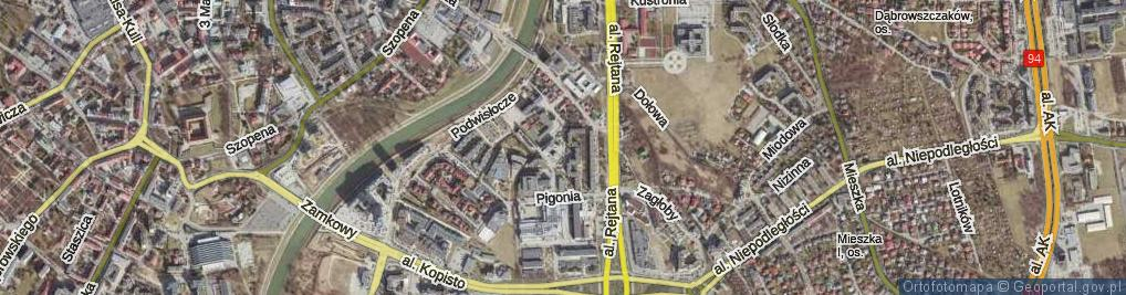Zdjęcie satelitarne Litawora ul.