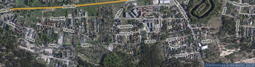 Zdjęcie satelitarne Lilii Wodnych ul.
