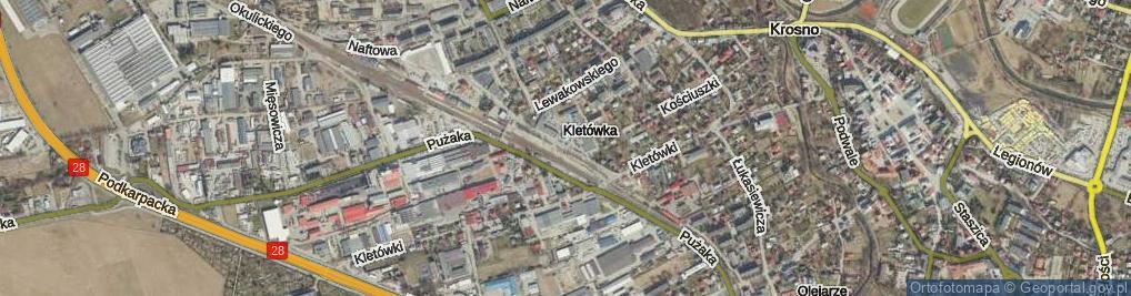 Zdjęcie satelitarne Lniarska ul.