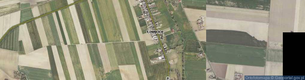 Zdjęcie satelitarne Łowęcice ul.
