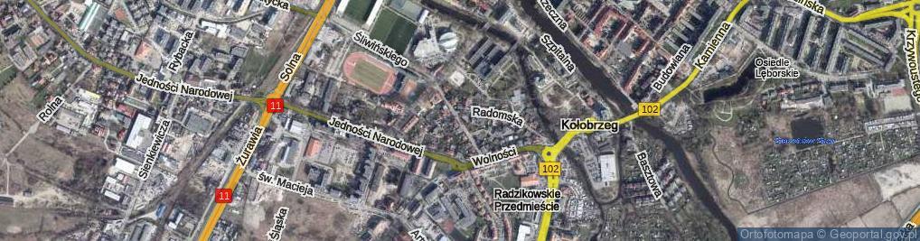 Zdjęcie satelitarne Lotnicza ul.