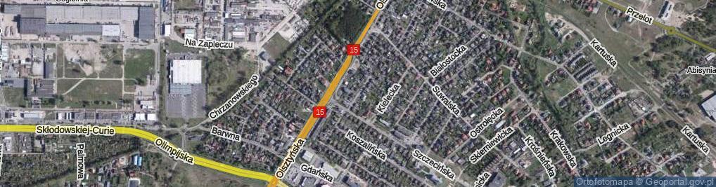 Zdjęcie satelitarne Łomżyńska ul.