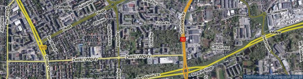 Zdjęcie satelitarne Lotników ul.