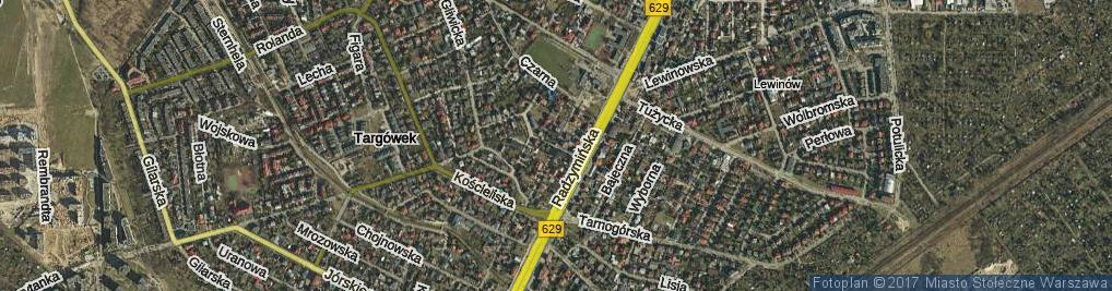 Zdjęcie satelitarne Lotnika ul.