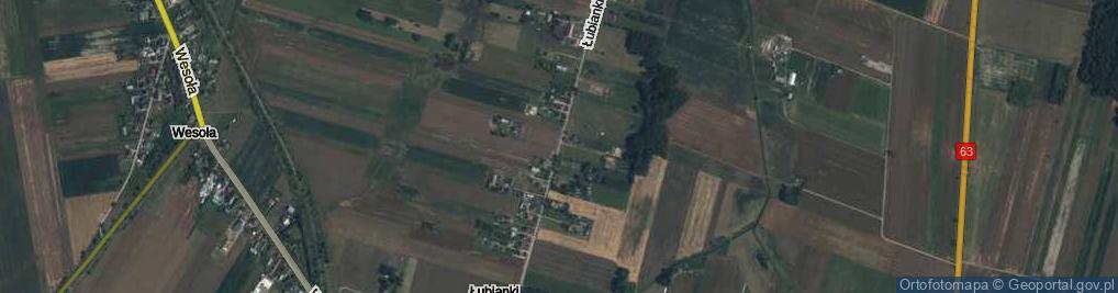 Zdjęcie satelitarne Łubianki ul.
