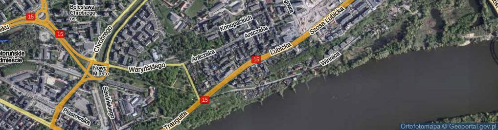 Zdjęcie satelitarne Lubicka ul.