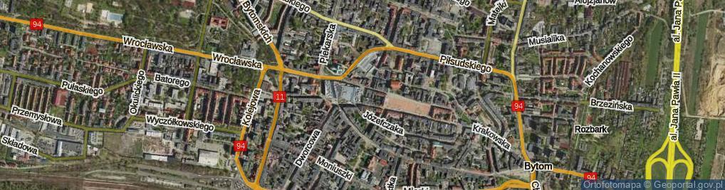 Zdjęcie satelitarne Lwowskich Dzieci ul.
