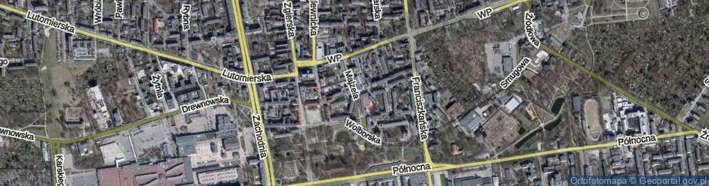 Zdjęcie satelitarne Pacanowskiej Zuli ul.