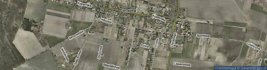 Zdjęcie satelitarne Markowa ul.