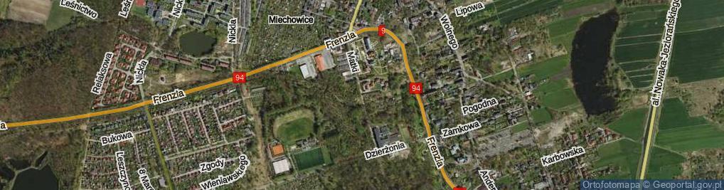 Zdjęcie satelitarne Matki Ewy ul.